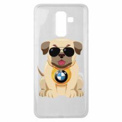 Чохол для Samsung J8 2018 Dog with a collar BMW