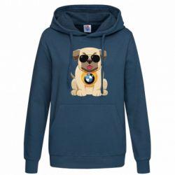 Толстовка жіноча Dog with a collar BMW