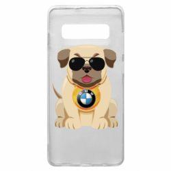Чохол для Samsung S10+ Dog with a collar BMW