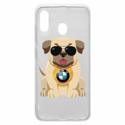 Чохол для Samsung A20 Dog with a collar BMW