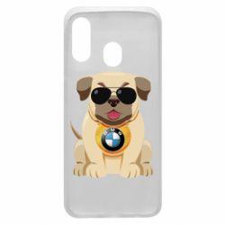Чохол для Samsung A40 Dog with a collar BMW