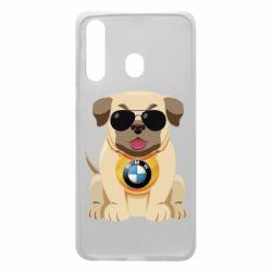Чохол для Samsung A60 Dog with a collar BMW