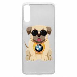 Чохол для Samsung A70 Dog with a collar BMW