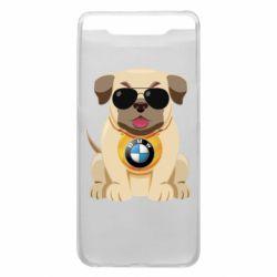Чохол для Samsung A80 Dog with a collar BMW