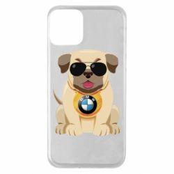 Чохол для iPhone 11 Dog with a collar BMW