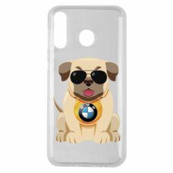Чохол для Samsung M30 Dog with a collar BMW