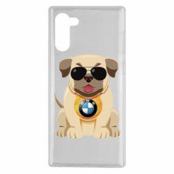 Чохол для Samsung Note 10 Dog with a collar BMW