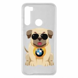 Чохол для Xiaomi Redmi Note 8 Dog with a collar BMW