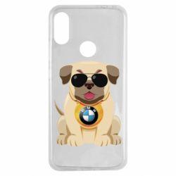 Чохол для Xiaomi Redmi Note 7 Dog with a collar BMW