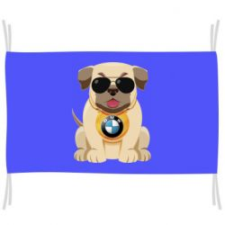 Прапор Dog with a collar BMW