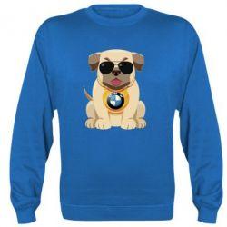 Реглан (світшот) Dog with a collar BMW