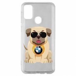 Чохол для Samsung M30s Dog with a collar BMW