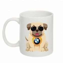 Кружка 320ml Dog with a collar BMW