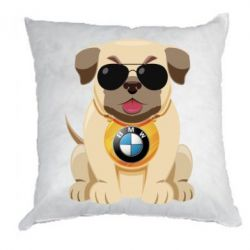 Подушка Dog with a collar BMW