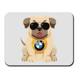 Килимок для миші Dog with a collar BMW