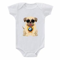 Детский бодик Dog with a collar BMW