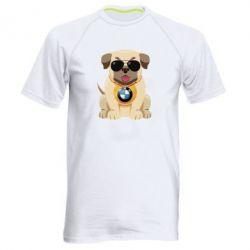 Чоловіча спортивна футболка Dog with a collar BMW