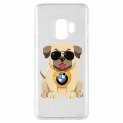 Чохол для Samsung S9 Dog with a collar BMW