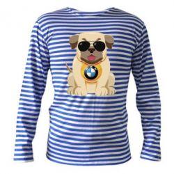 Тельняшка с длинным рукавом Dog with a collar BMW