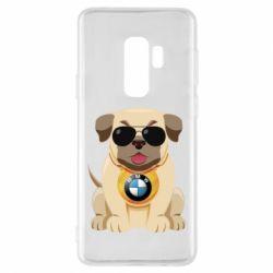 Чохол для Samsung S9+ Dog with a collar BMW