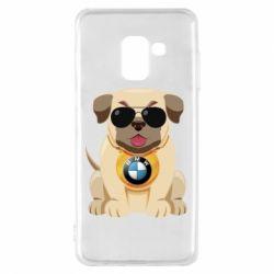 Чохол для Samsung A8 2018 Dog with a collar BMW