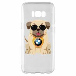 Чохол для Samsung S8+ Dog with a collar BMW