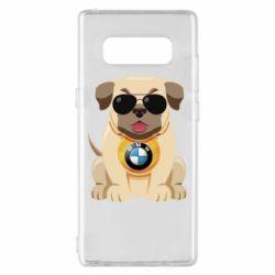 Чохол для Samsung Note 8 Dog with a collar BMW