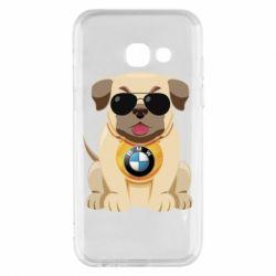 Чохол для Samsung A3 2017 Dog with a collar BMW