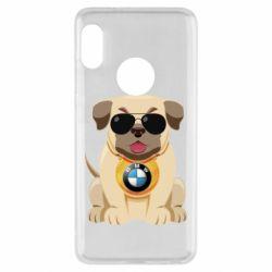 Чохол для Xiaomi Redmi Note 5 Dog with a collar BMW