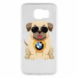 Чохол для Samsung S6 Dog with a collar BMW