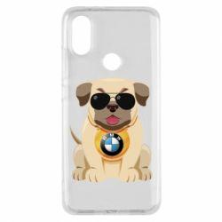 Чохол для Xiaomi Mi A2 Dog with a collar BMW