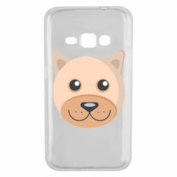 Чехол для Samsung J1 2016 Dog with a smile