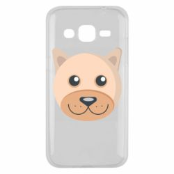Чехол для Samsung J2 2015 Dog with a smile