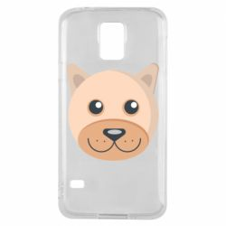 Чехол для Samsung S5 Dog with a smile