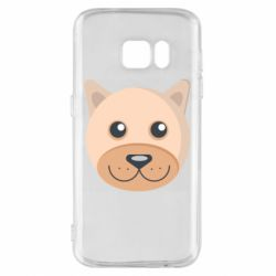 Чехол для Samsung S7 Dog with a smile