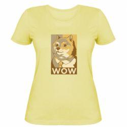 Жіноча футболка Doge wow meme