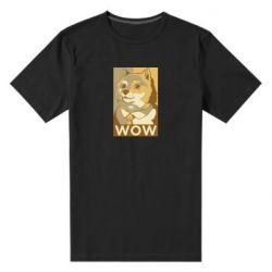 Чоловіча стрейчева футболка Doge wow meme