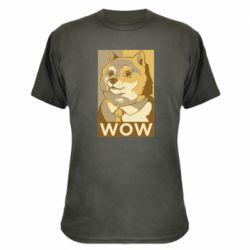 Камуфляжна футболка Doge wow meme