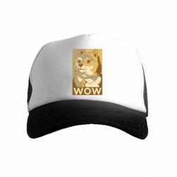 Дитяча кепка-тракер Doge wow meme
