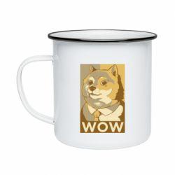 Кружка емальована Doge wow meme