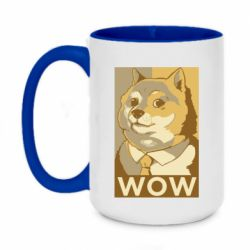 Кружка двоколірна 420ml Doge wow meme
