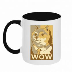 Кружка двоколірна 320ml Doge wow meme
