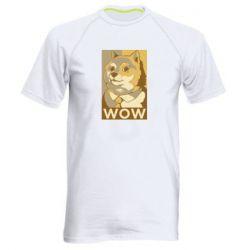 Чоловіча спортивна футболка Doge wow meme