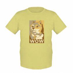 Дитяча футболка Doge wow meme