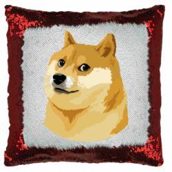 Подушка-хамелеон Doge