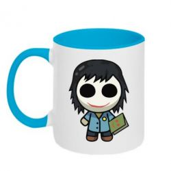 Кружка двоколірна 320ml Doll with a book