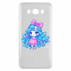 Чохол для Samsung J7 2016 Doll with blue hair