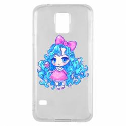 Чохол для Samsung S5 Doll with blue hair