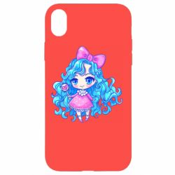 Чохол для iPhone XR Doll with blue hair