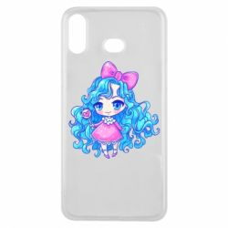 Чохол для Samsung A6s Doll with blue hair